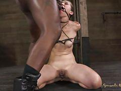 Black cock for her mouth, white - for her hands