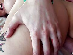 Brunette milf experiences painful anal sex