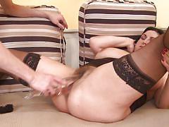 Young boy fucking busty mature lady