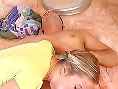 Super cute busty teen jessica takes it up her ass in the bathroom