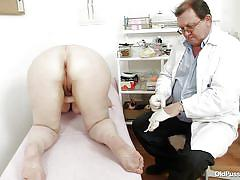 big ass, big tits, hospital, mature, redhead, glasses, czech, doctor, close up, gynecologist, pussy gaping, pussy exam, adela, old pussy exam, nasty czech cash
