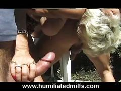 blonde, blow, gilf, job, mature, milf, pierced, public, rim, urination