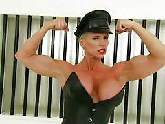 lesbian, blonde, femdom, bdsm, interview, uniform, strap on, playboy, dominatrix, short haired, female muscle, sexcetera, playboy webmasters