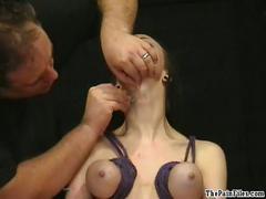 tit, bdsm, pierced, brutal, slavegirl, hanging, emily, sharpe