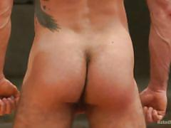 Naughty boys wrestle naked