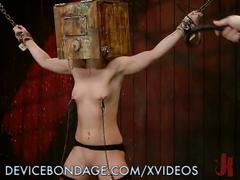 babe, bdsm, blonde, bondage, bound, devicebondage, dildo, flogging, gag, masochism, sadism, smalltits, tied, toys, vibrator