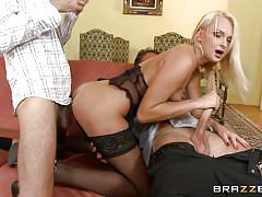 Ivana entertains two men