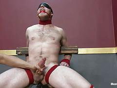 handjob, bondage, bdsm, blindfolded, tied up, kink, gay, ropes, executor, ball gag, fleshjack, cody allen, men on edge, kinky dollars
