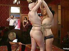 caning, bdsm, spanking, orgy, whipping, blowjob, flogging, blondes, face slapping, brunettes, odile, krysta kaos, the upper floor, kinky dollars