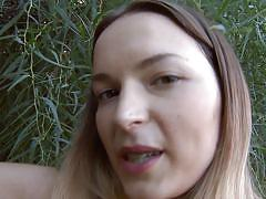 small tits, milf, skinny, panties, long hair, masturbation, nature, nice ass, outdoors, ivana fukalot, ivana fukalot, diesel action