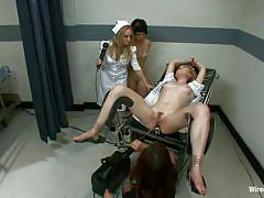 milf, bdsm, nurse, gangbang, lesbian domination, vibrator, pussy gaping, gynecologist table, metal speculum, electric wand, aiden starr, lily labeau, princess donna dolore, juliette march, wired pussy, kinky dollars