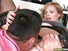 Beautiful milf with with a hot bush between her thighs