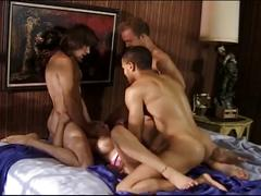 Hardcore gang-bang sex for blonde