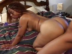 Thick and black ebony fuck with angel dark
