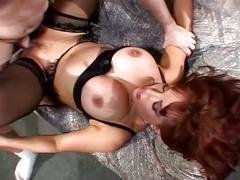 Redhead milf fucks young stud