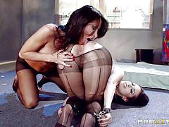 Chained milf seduces her master