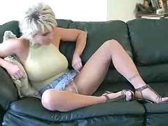 blonde, milf, masturbation, fetish, pantyhose