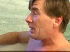 Teen daugther and daddy have fun