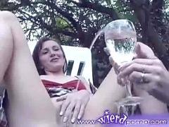 Pissing glass