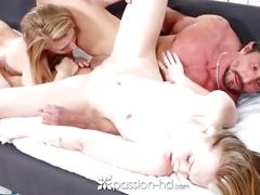 sex, hardcore, creampie, petite, blowjob, threesome, blondes, small-tits