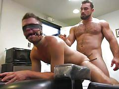 Bounded, blindfolded and banged in his butthole