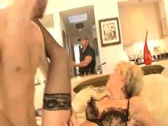 anal, stockings, cumshot, facial, dildo, blonde, milf, blowjob, toy, lingerie