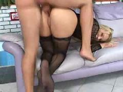 Gorgeous blonde 3some