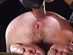 bdsm, sex slave, masked, deepthroat, domination, from behind, anal, bound gods, kink men, dominic pacifico, alex hawk