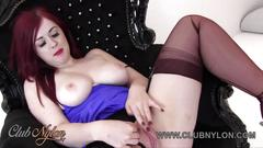 babe, big boobs, british, big tits, lingerie, nylon, redhead