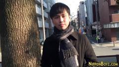 Gay japanese guy tugging