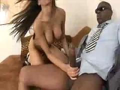 Hot lela star ride a big black cock