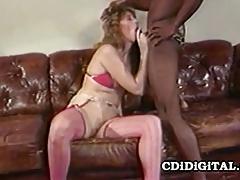 Summer rose - blonde bimbo enjoying a fat black cock