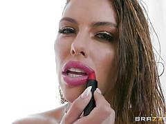 blonde, babe, deepthroat, busty, ass fingering, gagging, ball sucking, pov, oiled ass, foot licking, chocking, big wet butts, brazzers network, keiran lee, adriana chechik