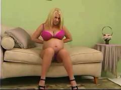 Blond pregnant