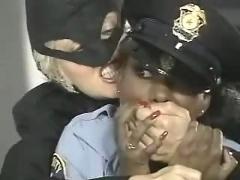 Ebony swing shift lesbian scene