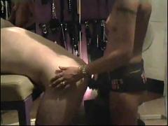 Bent over  -tied, gagged  and ass-fucked