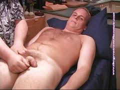 Newbie stud kevin massaged and wanked