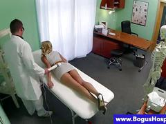 Pretend doctor seducing patient as he start fingering her