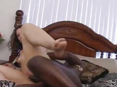 Latina slut riding monster black cock