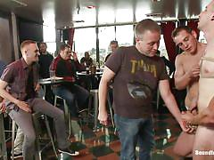 anal, bondage, bdsm, public, gangbang, blowjob, humiliation, gays, from behind, red ass, spectators, cbt, dylan roberts, tony hunter, bound in public, kinky dollars