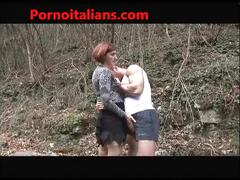 Milf blowjob in the woods and buggered room from italian - italiana