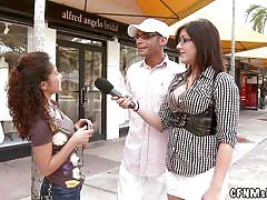 handjob, outdoor, public, interview, glasses, cfnm, milfs, streets, truck, short skirt, cfnm show, haze cash