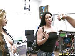 milf, blonde, threesome, babe, money talks, blowjob, brunette, deep throat, natural tits, big dick, tit flash, hardware, vinette ricci, money talks, nasty dollars