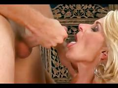 Blonde mature beauty with young by troc