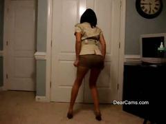 Mature latina private strip dance