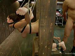 babe, torture, ass licking, brunette, tied up, from behind, executor, sex and submission, kink, holly michaels, ramon nomar