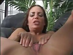 Brunette rides and sucks a black huge cock
