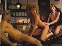 Vintage 1980s group sex scene