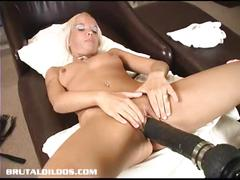 dildo, blonde, amateur, toy, masturbating, toys, masturbation, solo, sextoy, masturbate, insertion, machine, brutal