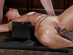 milf, tattoo, busty, lesbian domination, face sitting, pov, electrodes, electro bdsm, electro sluts, kink, chanel preston, sophia locke